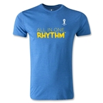2014 FIFA World Cup Brazil(TM) Men's Fashion All In One Rhythm T-Shirt (Heather Blue)