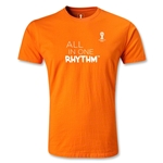 2014 FIFA World Cup Brazil(TM) Men's Fashion All In One Rhythm T-Shirt (Orange)
