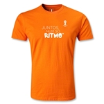 2014 FIFA World Cup Brazil(TM) Men's Fashion Portugese All In One Rhythm T-Shirt (Orange)