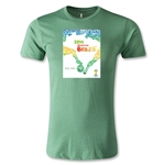 2014 FIFA World Cup Brazil Official Event Poster Men's Premium T-Shirt (Heather Green)