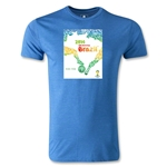 2014 FIFA World Cup Brazil Official Event Poster Men's Premium T-Shirt (Heather Royal)