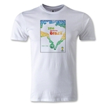 2014 FIFA World Cup Brazil(TM) Official Event Poster Premium T-Shirt (White)