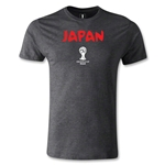 2014 FIFA World Cup Brazil(TM) Japan Core Men's Fashion T-Shirt (Dark Gray)