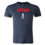 2014 FIFA World Cup Brazil(TM) Japan Core Men's Fashion T-Shirt (Navy)