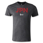 Japan 2014 FIFA World Cup Brazil(TM) Men's Fashion T-Shirt (Dark Gray)