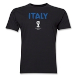 Italy 2014 FIFA World Cup Brazil(TM) Men's Premium Core T-Shirt (Black)