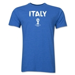 Italy 2014 FIFA World Cup Brazil(TM) Men's Premium Core T-Shirt (Heather Royal)