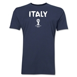 Italy 2014 FIFA World Cup Brazil(TM) Men's Premium Core T-Shirt (Navy)