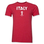 Italy 2014 FIFA World Cup Brazil(TM) Men's Premium Core T-Shirt (Heather Red)