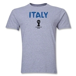 Italy 2014 FIFA World Cup Brazil(TM) Men's Premium Core T-Shirt (Grey)