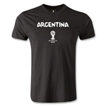 Argentina 2014 FIFA World Cup Brazil(TM) Men's Premium T-Shirt (Black)