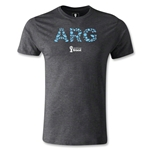 Argentina 2014 FIFA World Cup Brazil(TM) Men's Premium Elements T-Shirt (Dark Grey)