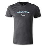Argentina 2014 FIFA World Cup Brazil(TM) Men's Premium Palm T-Shirt (Dark Grey)