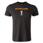 Netherlands 2014 FIFA World Cup Brazil(TM) Men's Premium Core T-Shirt (Black)