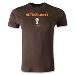Netherlands 2014 FIFA World Cup Brazil(TM) Men's Premium Core T-Shirt (Brown)