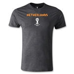 Netherlands 2014 FIFA World Cup Brazil(TM) Men's Premium Core T-Shirt (Dark Grey)