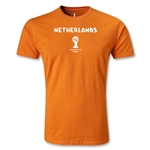 Netherlands 2014 FIFA World Cup Brazil(TM) Men's Premium T-Shirt (Orange)