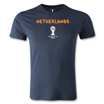 Netherlands 2014 FIFA World Cup Brazil(TM) Men's Premium Core T-Shirt (Navy)