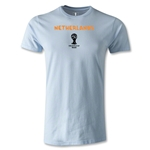 Netherlands 2014 FIFA World Cup Brazil(TM) Men's Premium Core T-Shirt (Sky)