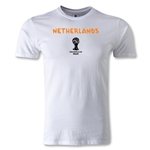 Netherlands 2014 FIFA World Cup Brazil(TM) Men's Premium Core T-Shirt (White)