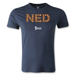 Netherlands 2014 FIFA World Cup Brazil(TM) Men's Premium Elements T-Shirt (Navy)