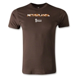 Netherlands 2014 FIFA World Cup Brazil(TM) Men's Premium Palm T-Shirt (Brown)