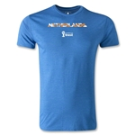Netherlands 2014 FIFA World Cup Brazil(TM) Men's Premium Palm T-Shirt (Heather Royal)