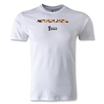 Netherlands 2014 FIFA World Cup Brazil(TM) Men's Premium Palm T-Shirt (White)