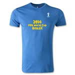 2014 FIFA World Cup Brazil(TM) Men's Fashion Logotype T-Shirt (Heather Blue)