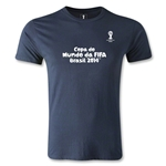 2014 FIFA World Cup Brazil(TM) Men's Fashion Portugese Logotype T-Shirt (Navy)