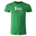 2014 FIFA World Cup Brazil(TM) Men's Premium Landscape Emblem T-Shirt (Green)
