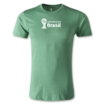 2014 FIFA World Cup Brazil(TM) Men's Premium Landscape Emblem T-Shirt (Heather Green)