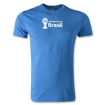 2014 FIFA World Cup Brazil(TM) Men's Premium Landscape Emblem T-Shirt (Heather Royal)