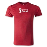 2014 FIFA World Cup Brazil(TM) Men's Premium Landscape Emblem T-Shirt (Heather Red)
