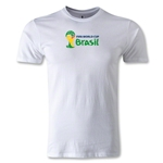 2014 FIFA World Cup Brazil(TM) Men's Premium Landscape Emblem II T-Shirt (White)