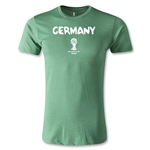 Germany 2014 FIFA World Cup Brazil(TM) Men's Premium Core T-Shirt (Heather Green)