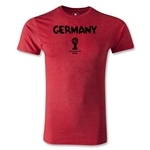 Germany 2014 FIFA World Cup Brazil(TM) Men's Premium Core T-Shirt (Heather Red)