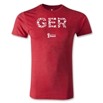 Germany 2014 FIFA World Cup Brazil(TM) Men's Premium Elements T-Shirt (Heather Red)