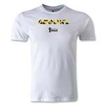 Germany 2014 FIFA World Cup Brazil(TM) Men's Premium Palm T-Shirt (White)