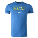 Ecuador 2014 FIFA World Cup Brazil(TM) Men's Premium Elements T-Shirt (Heather Royal)