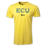 Ecuador 2014 FIFA World Cup Brazil(TM) Men's Premium Elements T-Shirt (Yellow)