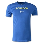 Ecuador 2014 FIFA World Cup Brazil(TM) Men's Premium Palm T-Shirt (Royal)
