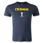 Colombia 2014 FIFA World Cup Brazil(TM) Men's Premium Core T-Shirt (Navy)