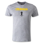 Colombia 2014 FIFA World Cup Brazil(TM) Men's Premium Core T-Shirt (Grey)