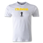 Colombia 2014 FIFA World Cup Brazil(TM) Men's Premium Core T-Shirt (White)