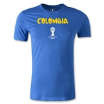 Colombia 2014 FIFA World Cup Brazil(TM) Men's Premium Core T-Shirt (Royal)