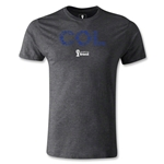 Colombia 2014 FIFA World Cup Brazil(TM) Men's Premium Elements T-Shirt (Dark Grey)