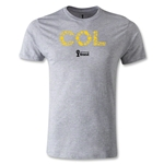Colombia 2014 FIFA World Cup Brazil(TM) Men's Premium Elements T-Shirt (Grey)