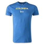 Colombia 2014 FIFA World Cup Brazil(TM) Men's Premium Palm T-Shirt (Heather Royal)