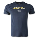 Colombia 2014 FIFA World Cup Brazil(TM) Men's Premium Palm T-Shirt (Navy)